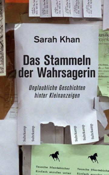 "Buchcover Sarah Khan ""Das Stammeln der Wahrsagerin"", Suhrkamp 2017"