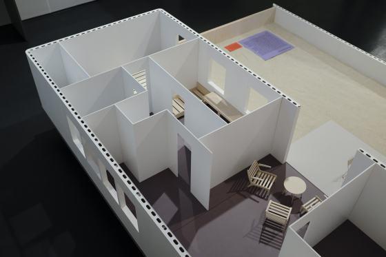 Entwurf: Hans Scharoun/Karl Boettcher, Möbelmodelle: Herbert Hirche, Nachbau: André Kryger 2017, Foto: Katrin Greiling