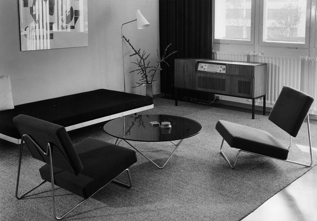 Musterwohnung Herbert Hirche, Interbau Berlin, 1957